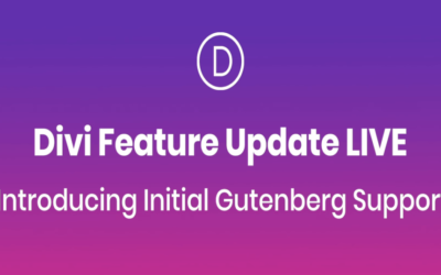 Introducing Initial Gutenberg Support Divi